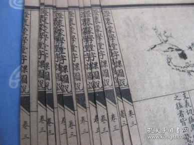 澄衷蒙学堂字课图说 卷三【残本 散页】