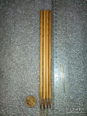 日本老毛笔(书画用笔),《1号,文字笔》4支。未使用,锋颖完整。