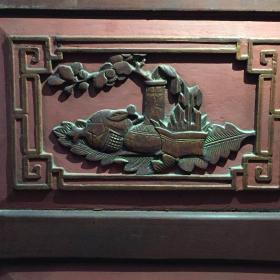 清代木雕,博古图