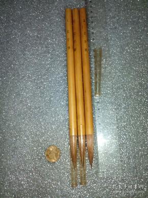日本老毛笔(书画用笔),《6号,文字笔》3支。未使用,锋颖完整。