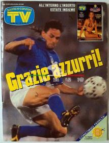 意大利杂志 SORRISI E CANZONI TV 巴乔 意大利 1994年第30期