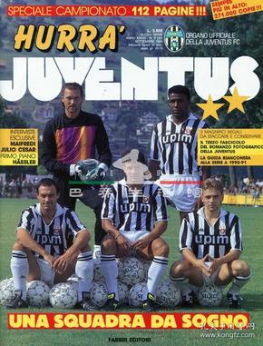 意大利杂志 HURRA JUVENTUS 尤文图斯队刊 巴乔 1990 9