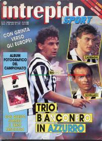 意大利原版足球杂志  INTREPIDO 巴乔 尤文图斯 1990年42期