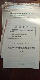 吉林医科大学 西医离职学习中医试办班教学方案(草案)