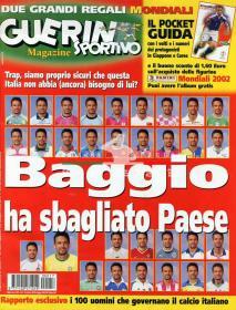 意大利原版杂志体育战报 GUERIN SPORTIVO 2002  17期 巴乔