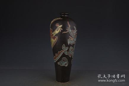 宋磁州窑龙凤纹梅瓶