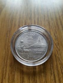 美国州纪念币25分 内布拉斯加州 (1867--2006年)