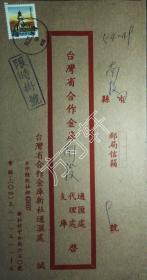 银行封专辑:实寄封,银行封,台湾省合作金库新社通汇处,销新社,