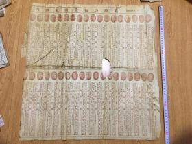 1953年日本报纸《1885以来的历代内阁组成》《全日本浪曲技艺士番》残缺