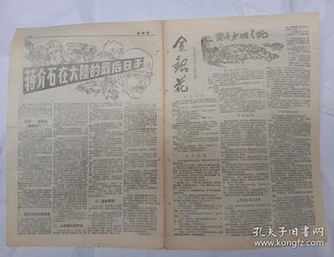 8-90年代文学小报《金银花》广西柳州地区卫生防疫站编【共8版】