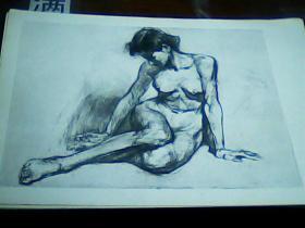 8开素描单页女人体 陈研画