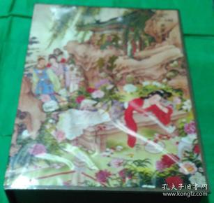 中国唱片总公司1987年出版多位红学会大家题字多幅彩图红楼梦声音书籍带原声磁带10盘带精装盒