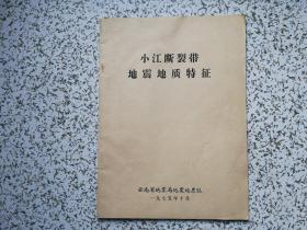 小江断裂带地震地质特征
