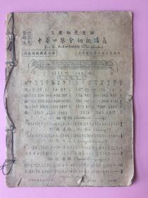低价,稀见,民国,王庆勋先生,中国口琴会初级讲义,赠送《石人望,最新口琴吹奏法讲义》《简易口琴吹奏法》等书