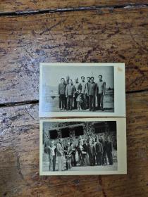 七十年代——方非部长到叙利亚戈兰高地照片  两张合售