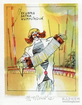 国外藏书票:克里尔·贝尼斯(捷克)