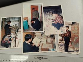 1995年,早期收旧书爱好的老照片,系列,五种
