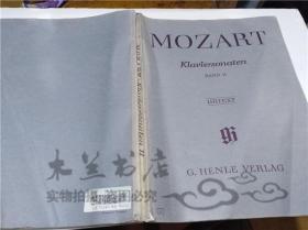 原版英法德意等外文书 MOZART KLAVIERSONATEN BANDII  G.HENLE VERLAG 大16开平装