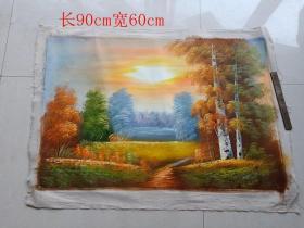名人山水油画一幅2