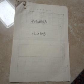 七十年代九江地区美术工作者调查表12份合售(陈重印,汤炎生,林美岚等12名美术资料)