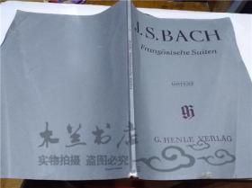 原版英法德意等外文书 J.S.BACH Frangosische Suiten URTEXT G.HENLE VERLAG 大16开平装