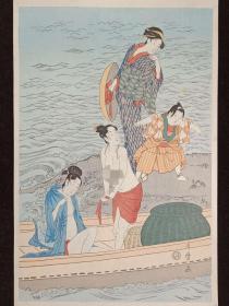 【浮世绘】喜多川歌磨 KITAGAWA  传统纯手摺木版画