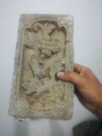 砖雕;老砖雕一块;老鼠吃高粱26厘米*15厘米*4厘米