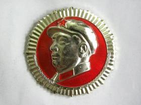 毛主席高浮雕像章(品好)