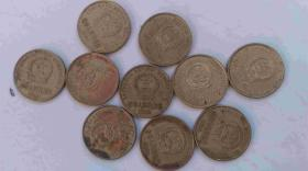 2000年-5角.硬币-梅花硬币-10枚