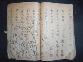 民国手抄一本。杂抄,有珠算,谜语等内容。具体品相见图。