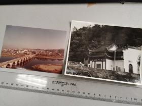 1986歙县太平桥,县城全景+摄影家凌军摄影的《太白楼》