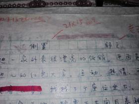 北京作家:舒文手稿——【倒置】二页•十六开发表之稿