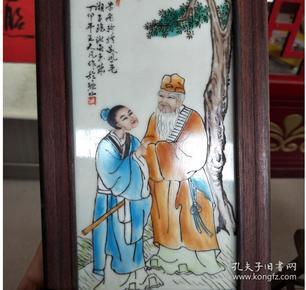 手绘人物瓷板画