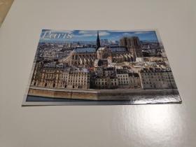 原版明信片 巴黎圣母院 实寄片 彩色 六寸