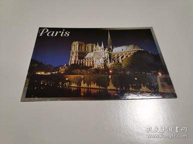 原版明信片 巴黎圣母院 新片 彩色 六寸