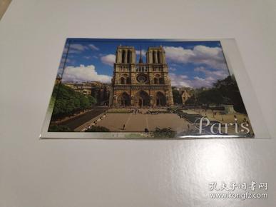 原版明信片 巴黎圣母院 实寄片 彩色 正面 六寸