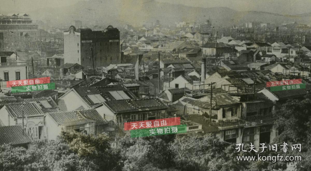 民国1925年广东广州市区全景老照片,尺寸为29.5x20.2厘米图片