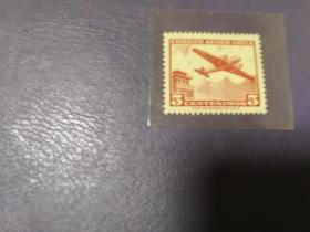 智利邮票1956航空,道格拉斯DC-6飞机(无邮戳新票)