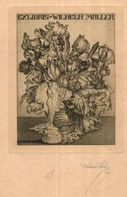 奥地利著名版画家RICHARD LUX(1877-1939年)藏书票原作2