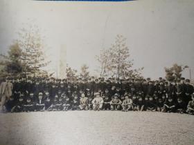 民国初年日本士官生合影大幅照片