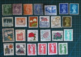 外国邮票--混合邮票(信销票)