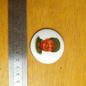 毛主席像章 瓷像章 磁州窑生产 老像章