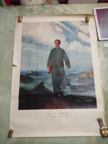 毛主席去安源(对开油画.一九二一年秋.我们伟大的导师去安源.亲自点燃了安源的革命烈火)