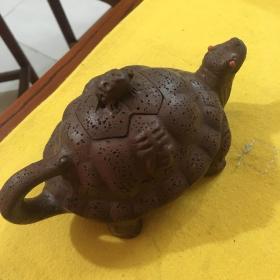 龟寿紫砂壶