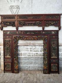 精品花板一套,满工人物透雕,雕工精细,完整无损,值得拥有,装修佳品
