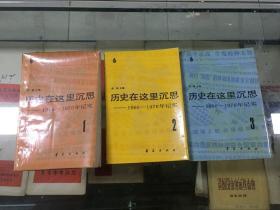 历史在这里沉思--1966~1976年记实(1、2、3)全三册