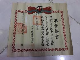 同一人 1951年天津市私立志生助产学校 1953年助产士证书 2张