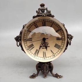 水晶创意机戒表摆件 客厅卧室时尚装饰钟表