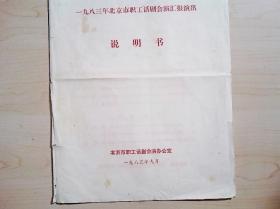 话剧节目单  一九八三年北京市职工话剧会演汇报演出说明书