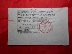 西安交通大学物理系副教授 张智明 1990年填写的《激光工作会议开会通知回执》